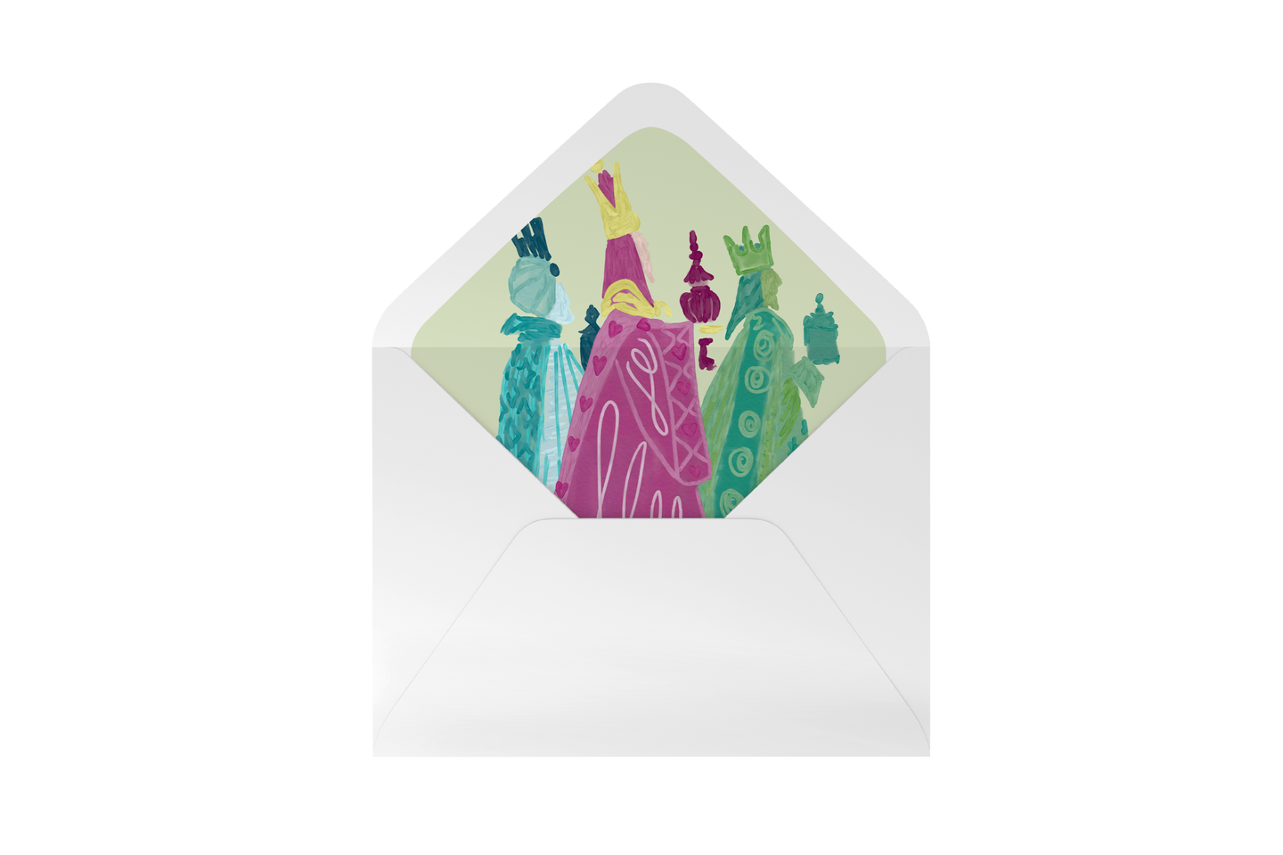 three wise men envelope liner