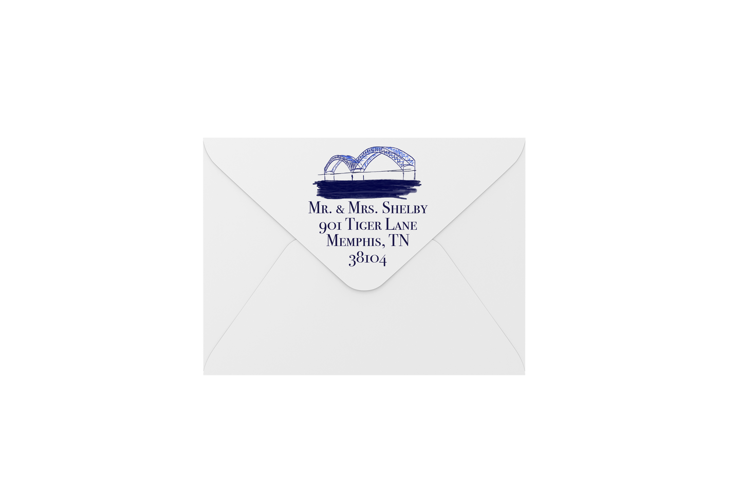 merry in memphis envelopes - address printing