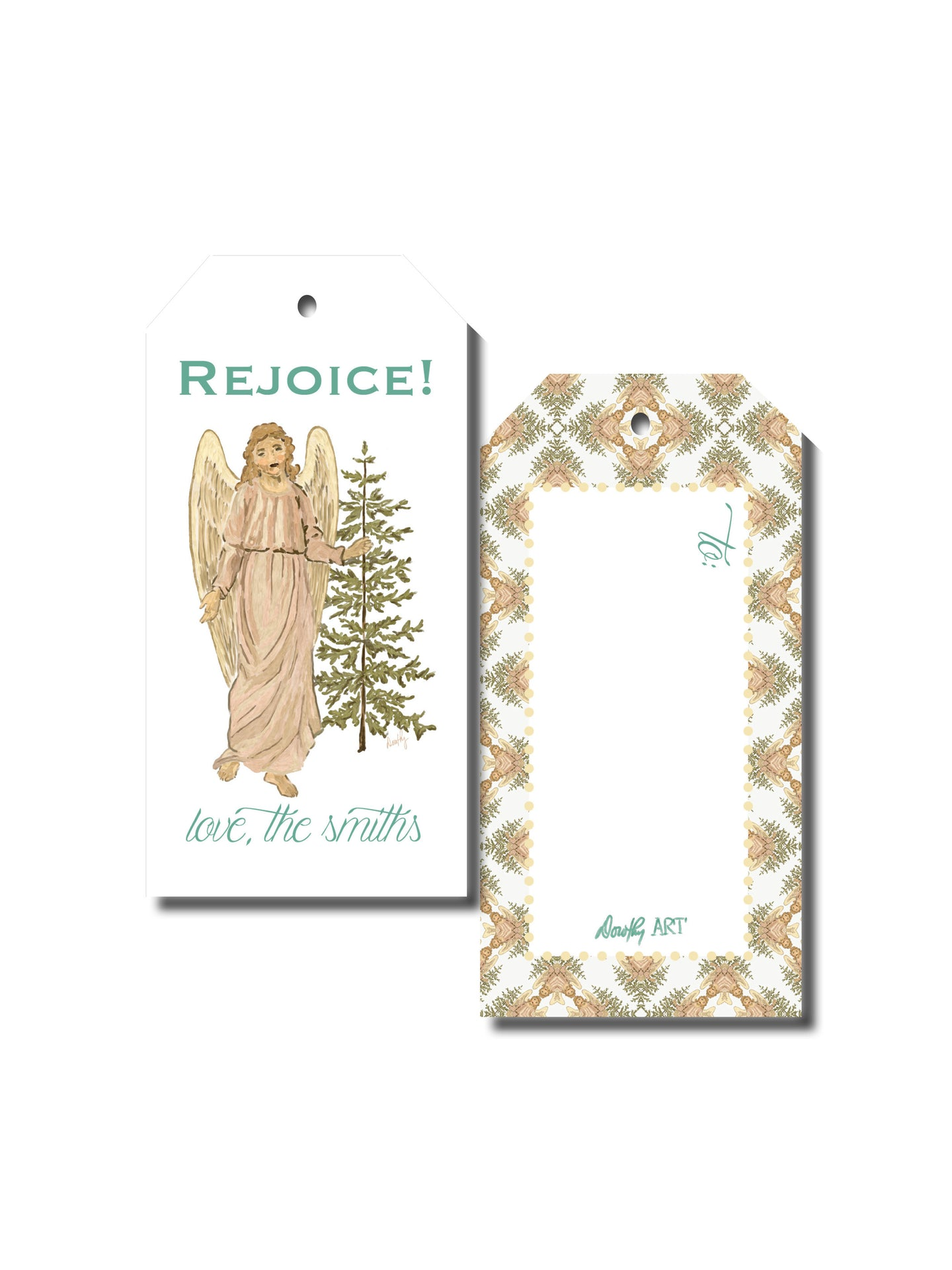 angel gift tag