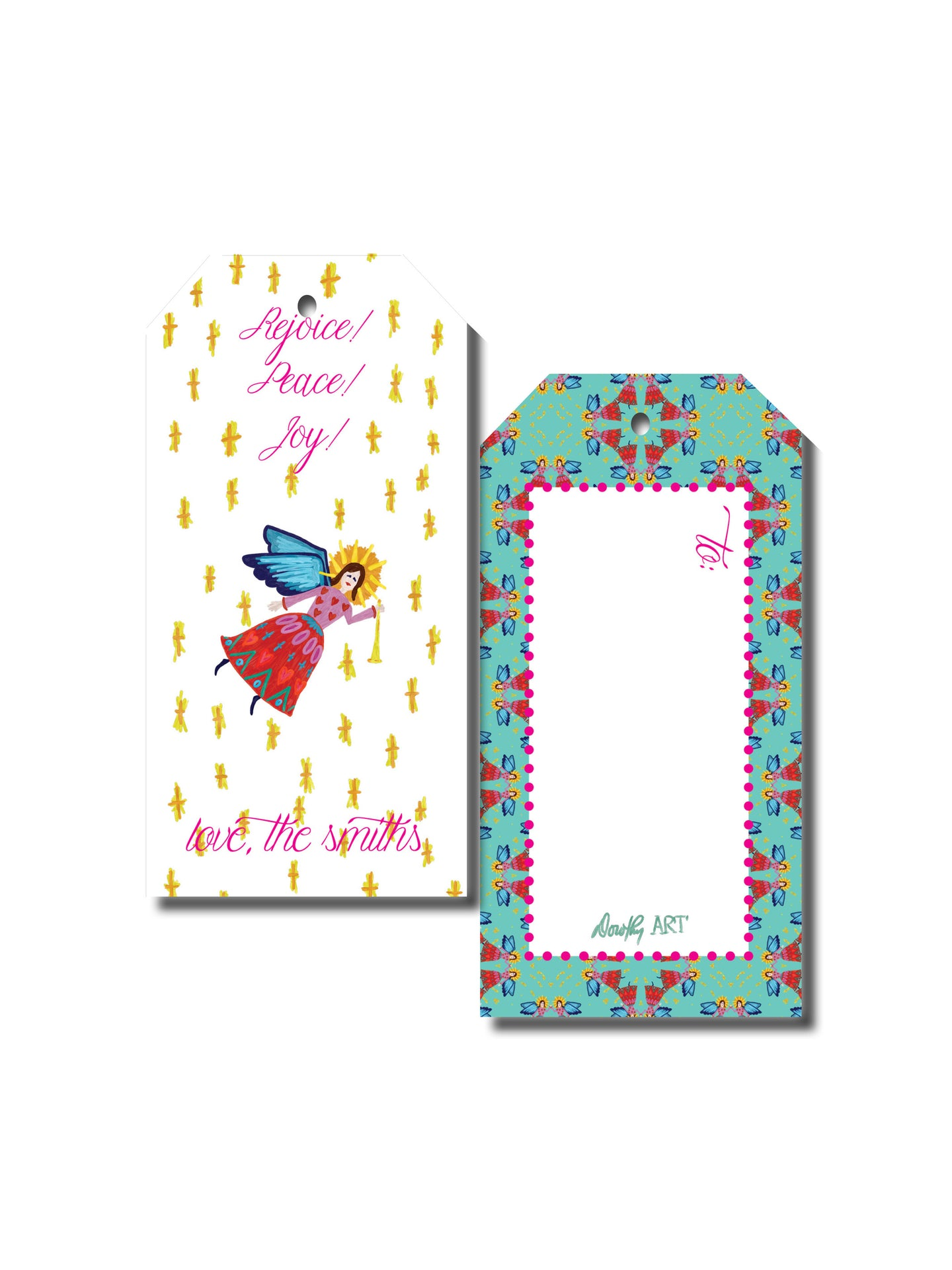 angel bright gift tag