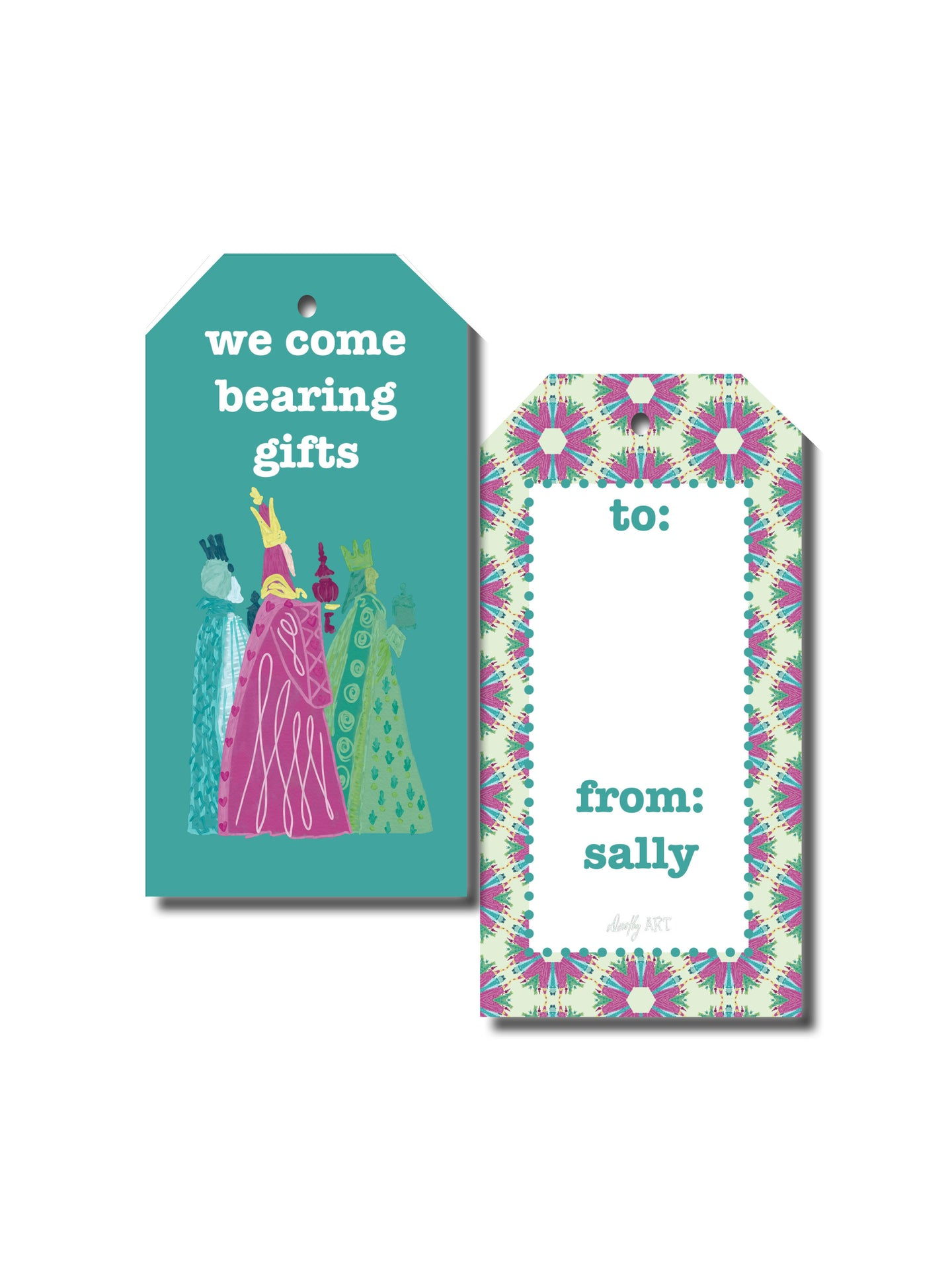 three wise men gift tag