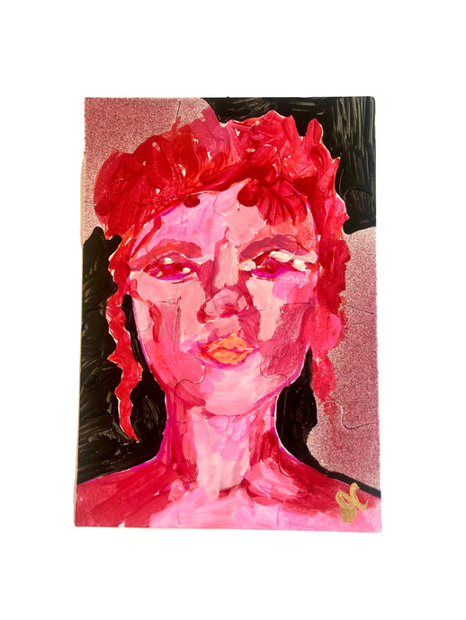 Portraits of Puzzling Times - Pink 4 - Dorothy Art
