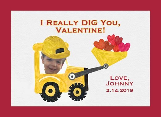 Construction Valentine's Day Card