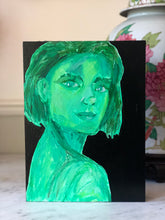 Portraits of Puzzling Times - Hopeful for Rainbow Vision in Green - Dorothy Art