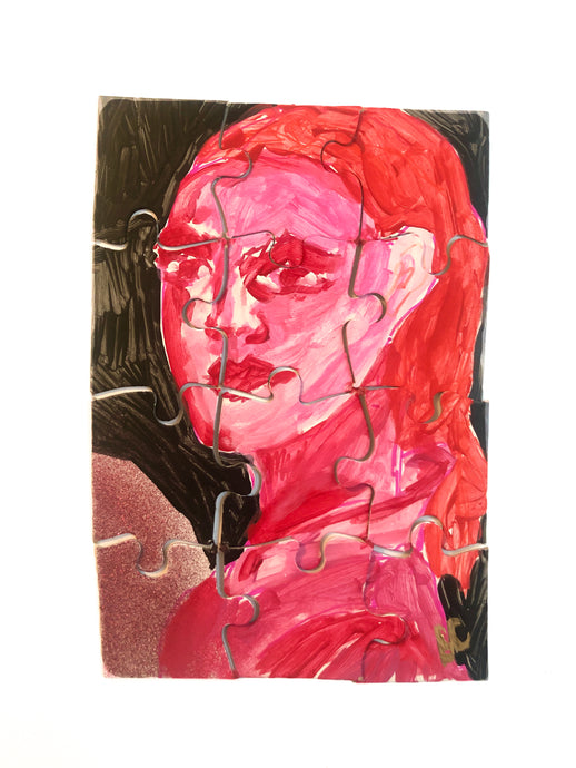 Portraits of Puzzling Times - Pink 6 - Dorothy Art