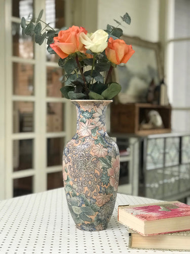 Vase - Light Pink Chinoiserie - Dorothy Art