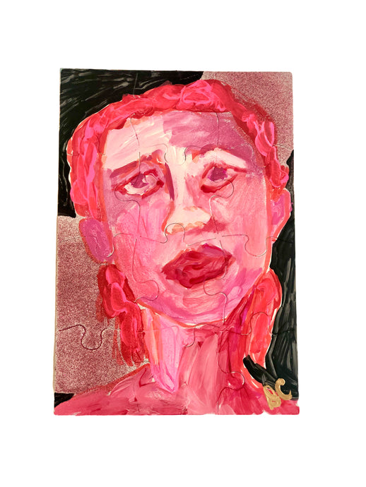 Portraits of Puzzling Times - Pink 5 - Dorothy Art