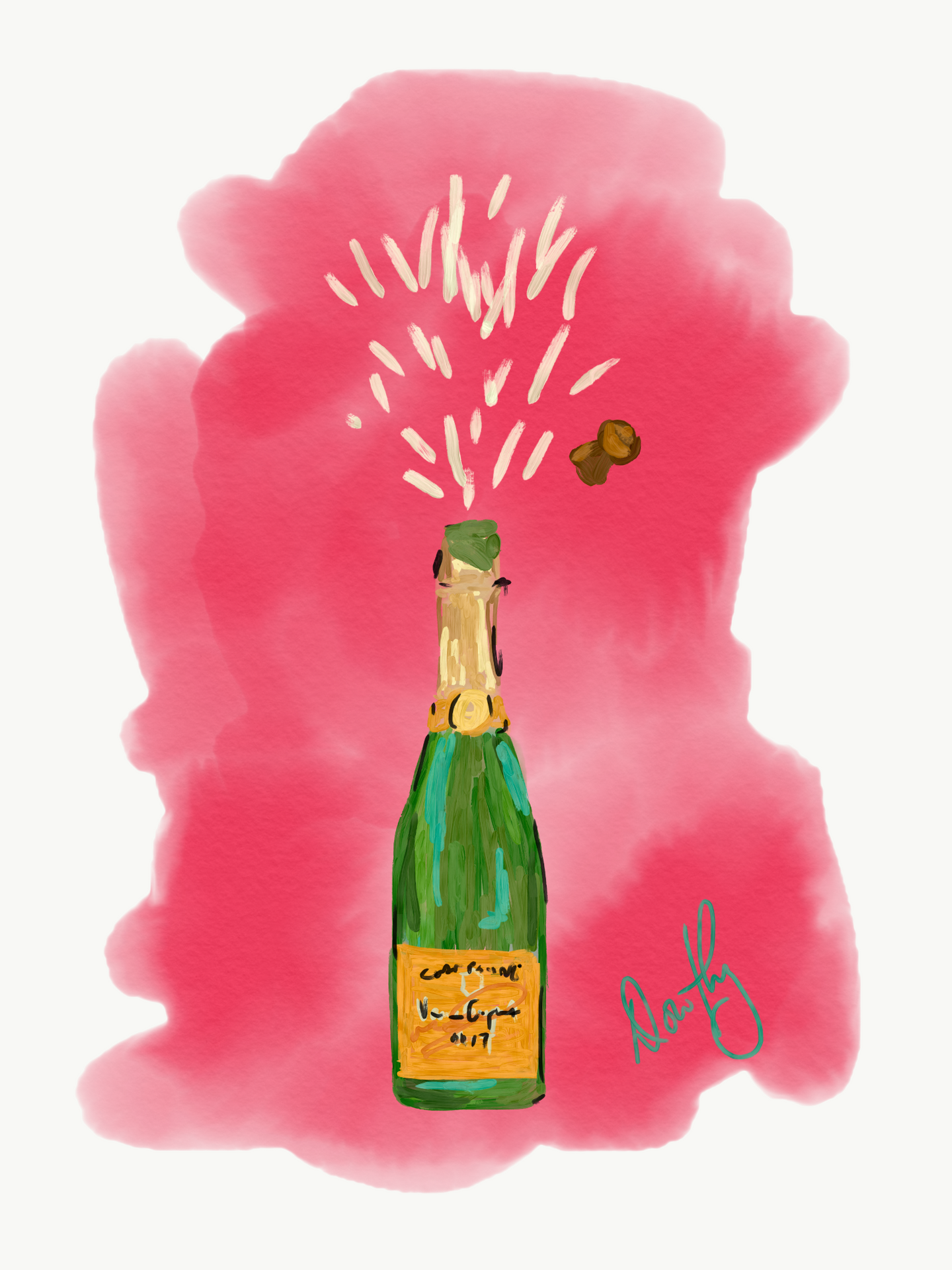 Veuve Clicquot - Abstract Watercolor Pop