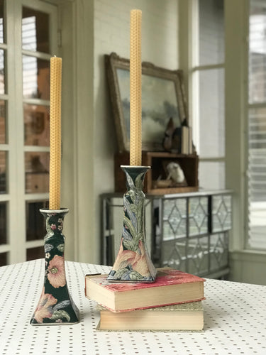 Candlestick - Chinoiserie Emerald - Dorothy Art