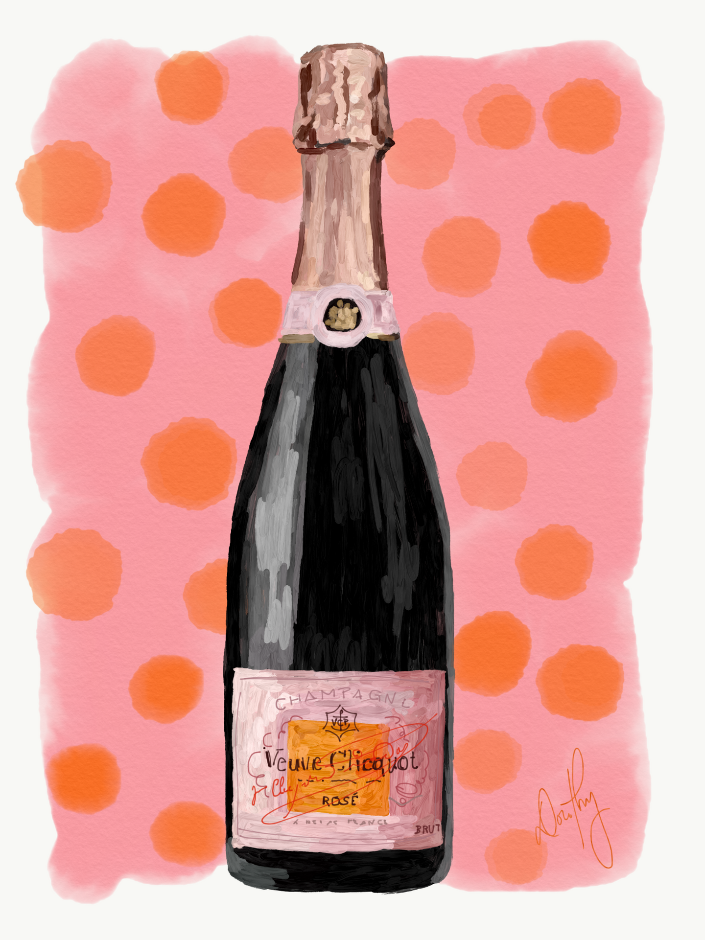 Veuve Clicquot - Rose Polka Dot
