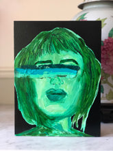 Portraits of Puzzling Times - She's Got Green Rainbow Vision - Dorothy Art