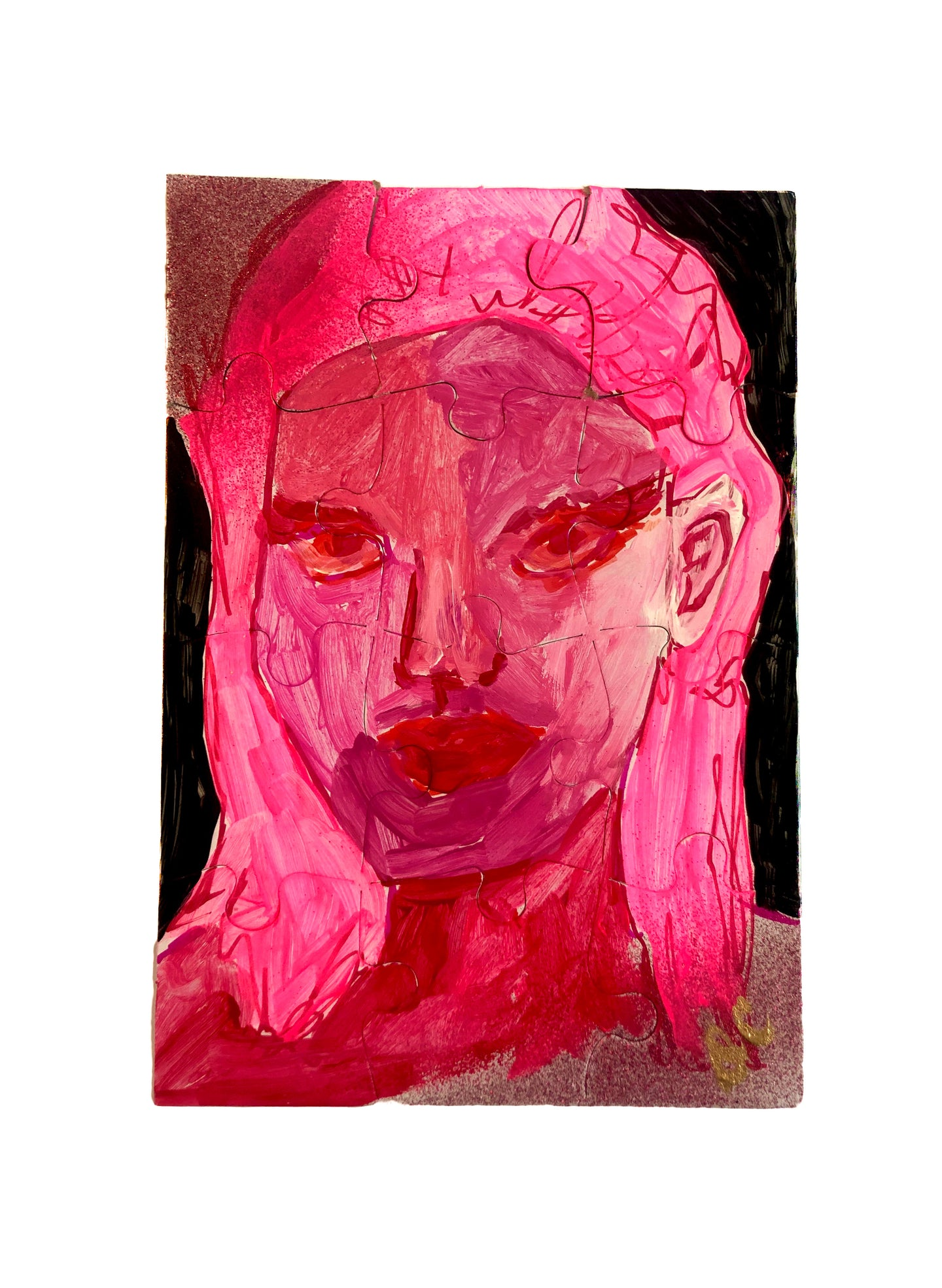 Portraits of Puzzling Times - Pink 3 - Dorothy Art