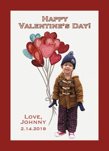 Balloon Hearts Valentine's Day Card