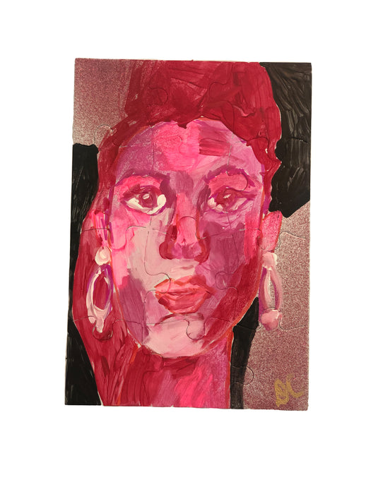 Portraits of Puzzling Times - Pink 2 - Dorothy Art