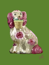Staffordshire Dog Pink Figurine Wall Art