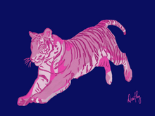 Tiger in Pink Wall Art