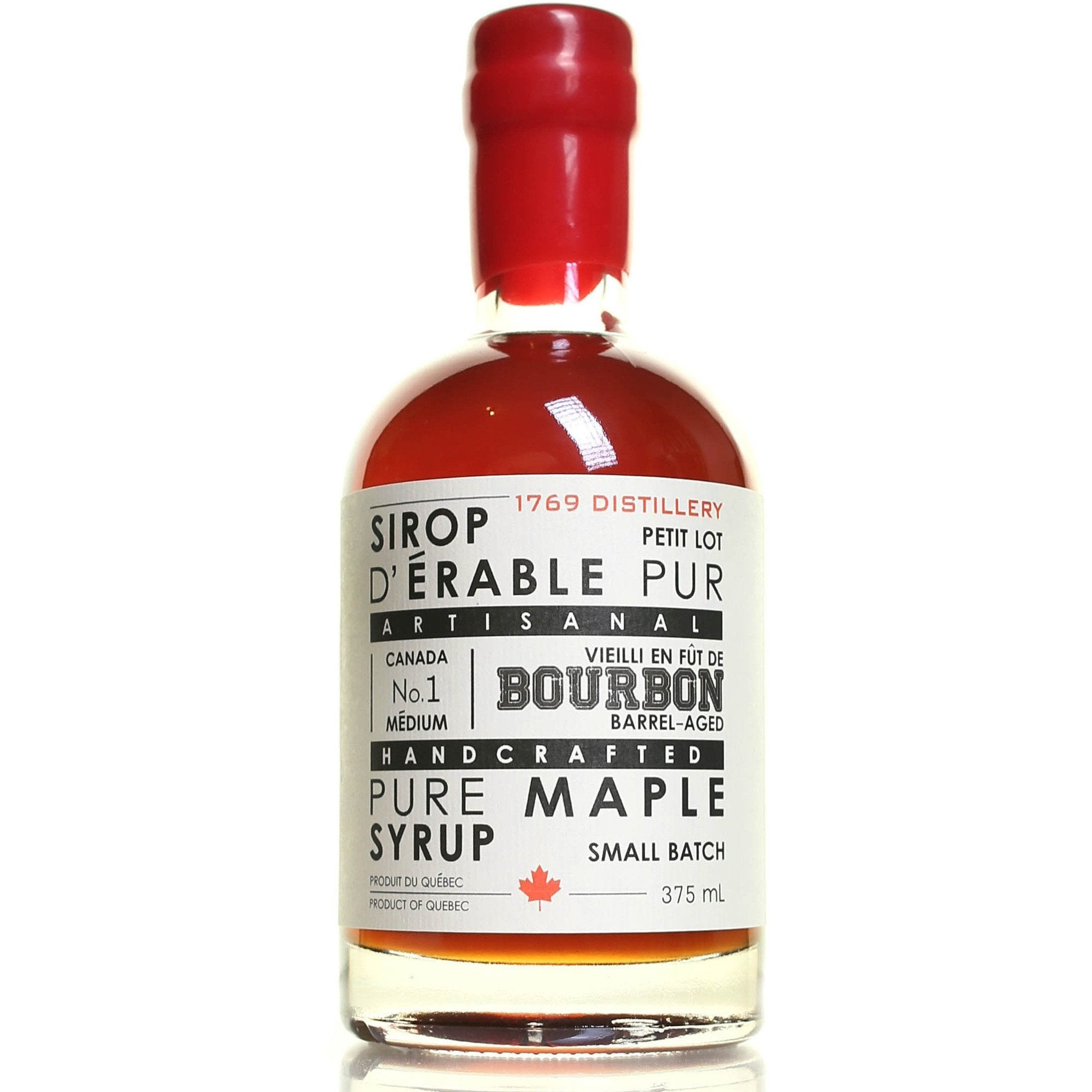 09fdd0e47ed 1769 Distillery Syrup Bourbon Barrel Aged Maple Syrup - Alambika Montreal  Canada