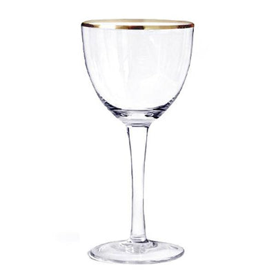 Nick & Nora Glass 6oz Gold Rim by Jesemi's Collection - Alambika Canada