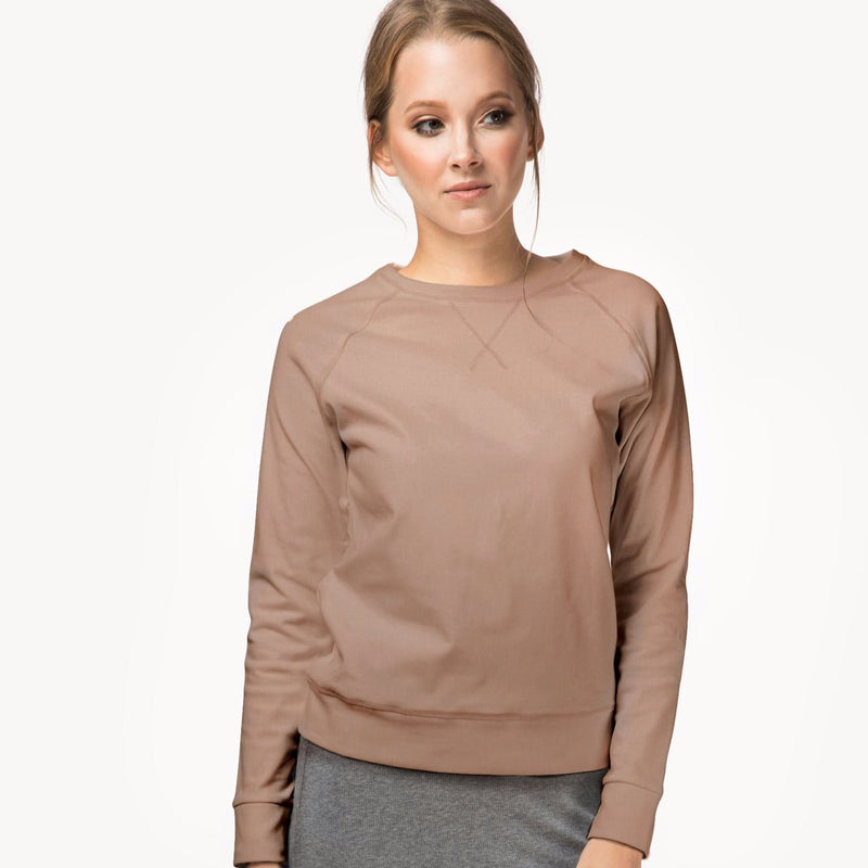 Crewneck sweater | Camel