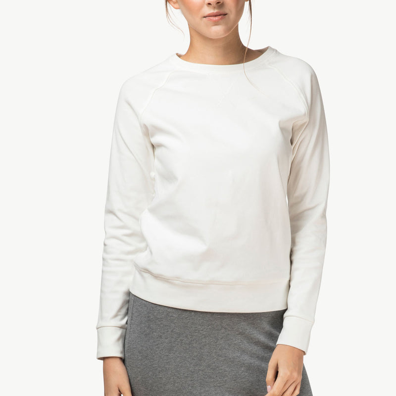 Crewneck sweater | White