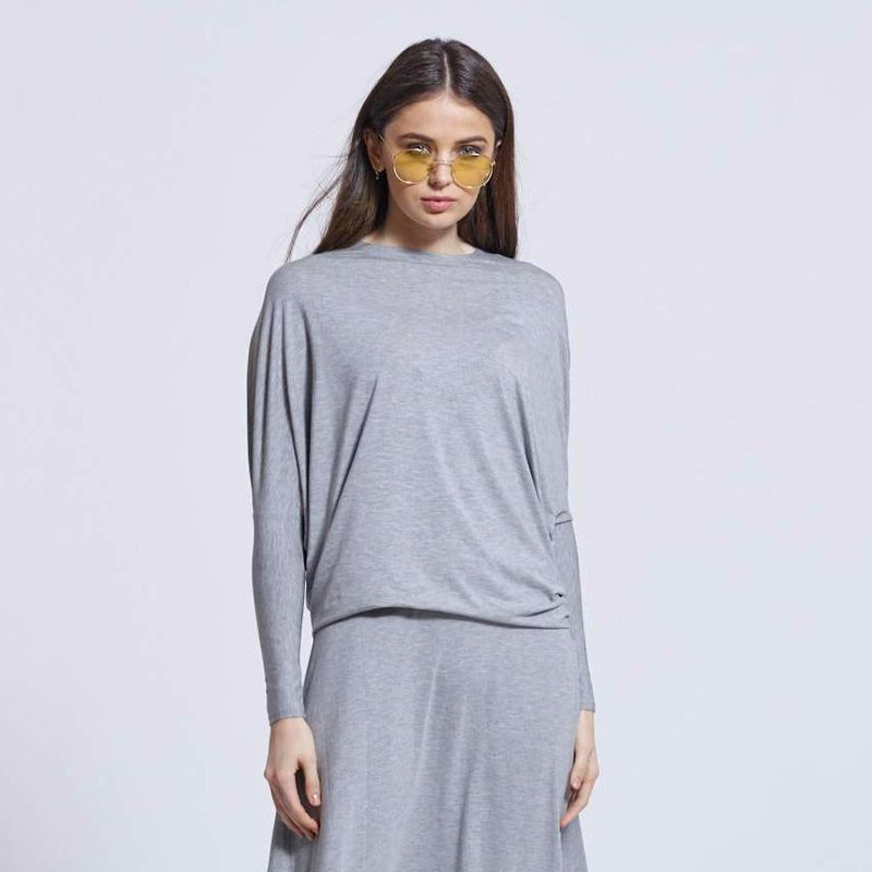 Dolman Tee | Heather Gray
