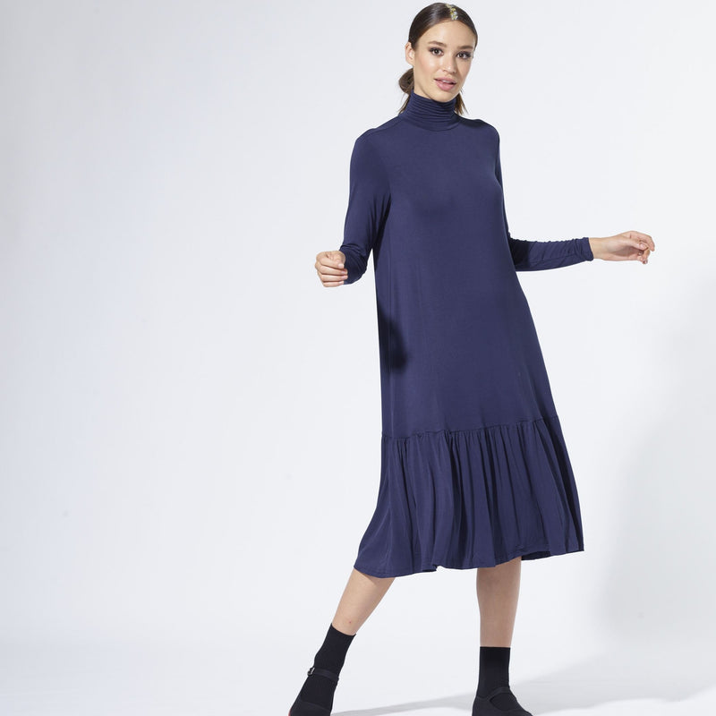 Turtleneck Dress | Navy