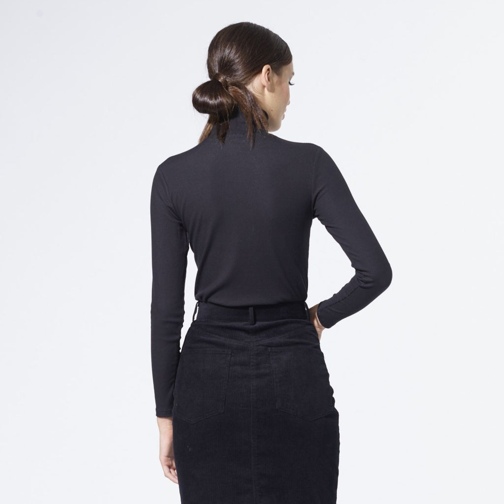 Ribbed Turtleneck | Black [Final Sale]