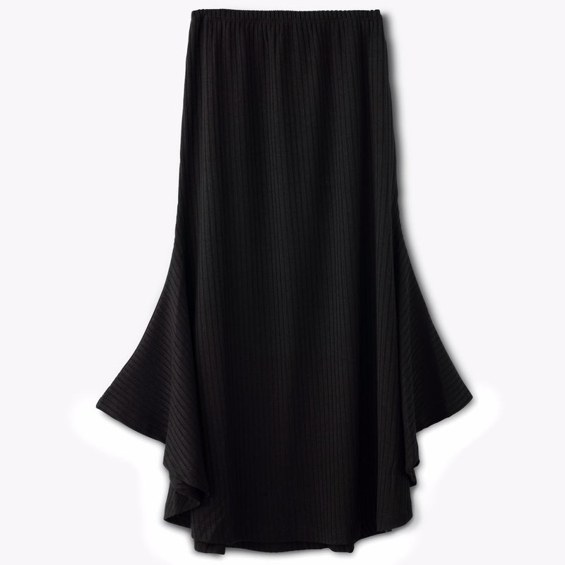 Ribbed Wing skirt-Black