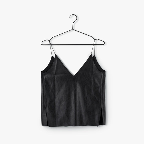 Leather Cami |Black [Final Sale]