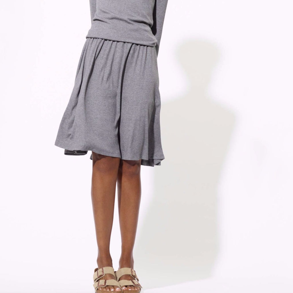 Twirl Ribbed Skirt | Grey