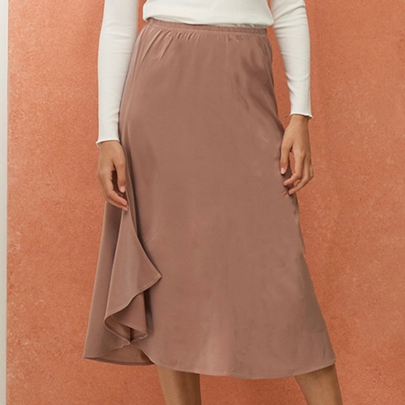 Slip Wing Skirt | Mauve