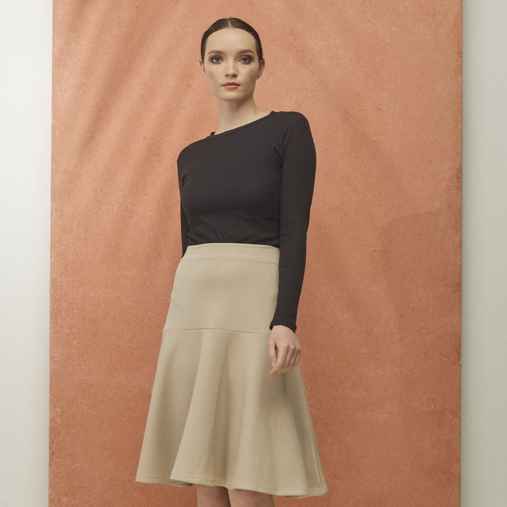 Drop Waist Skirt | Tan