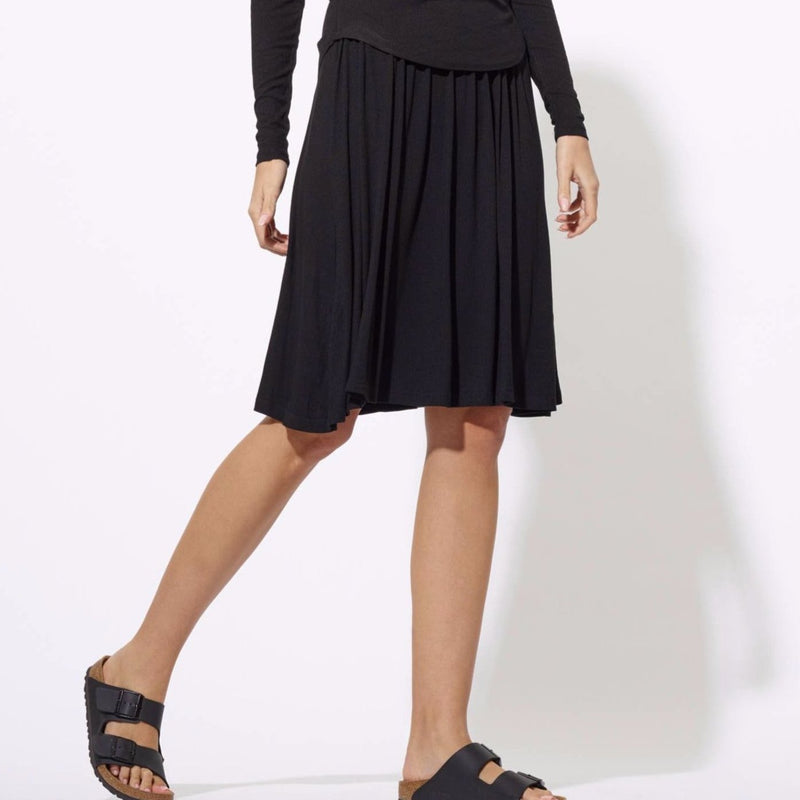 Twirl Ribbed Skirt | Black
