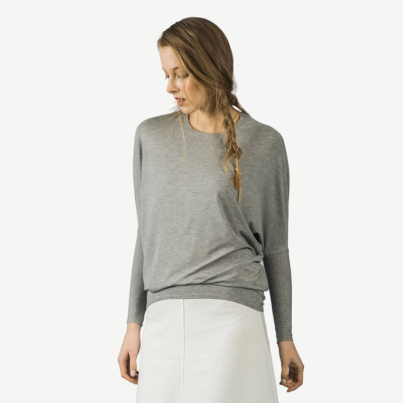 Dolman Tee - Heather Gray