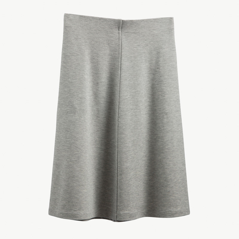 Basic A-Line Skirt - Light Gray Heather