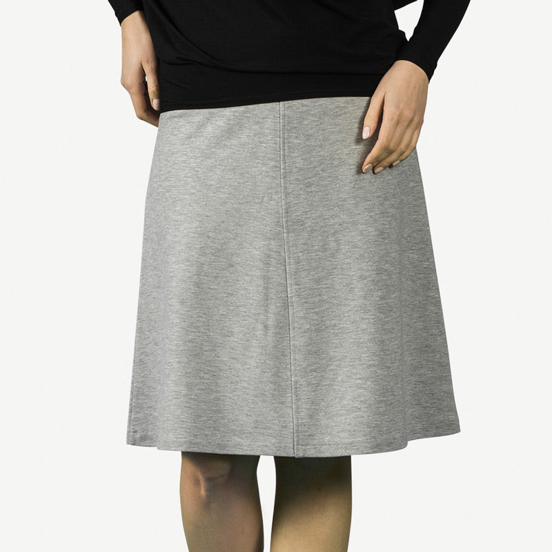 Basic A-Line Skirt - Light Gray Heather [FINAL SALE]