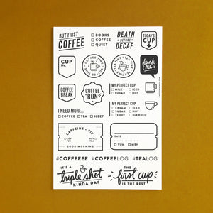 Caffeine Fix - 4x6 Clear Stamp Set