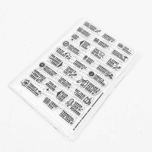 PRE-ORDER: 29 Prompts - 4x6 Clear Stamp Set