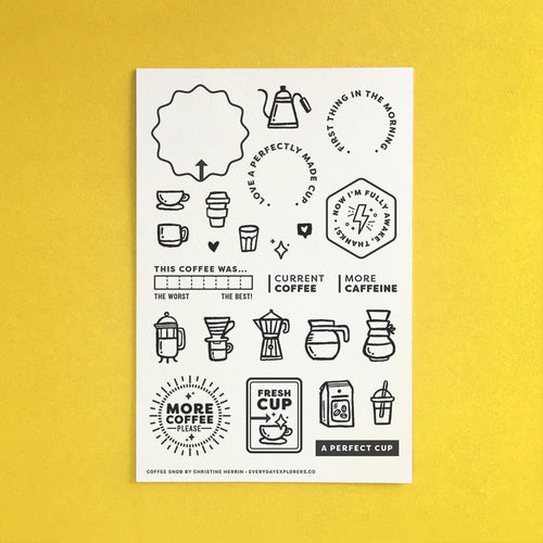 Coffee Snob - 4x6 Clear Stamp Set