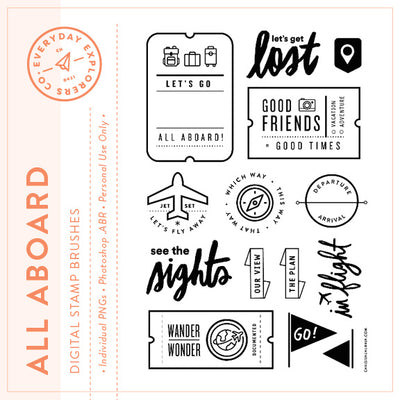 All Aboard - Digital Stamp Set