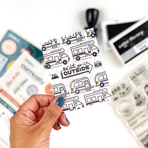 Hit the Road - 4x6 Clear Stamp Set