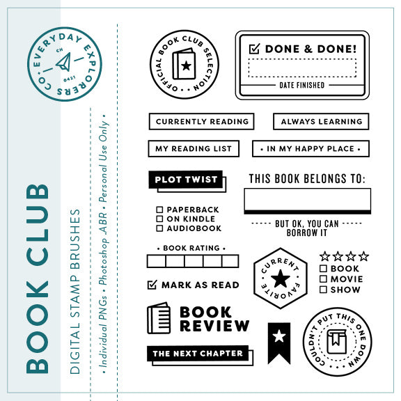 Book Club - Digital Stamp Set