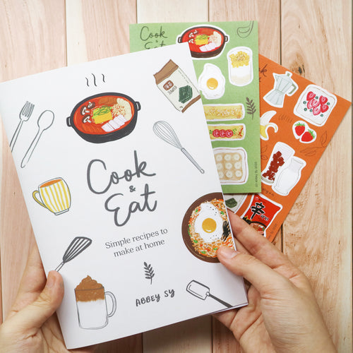 Cook & Eat - Recipe Book + Sticker set