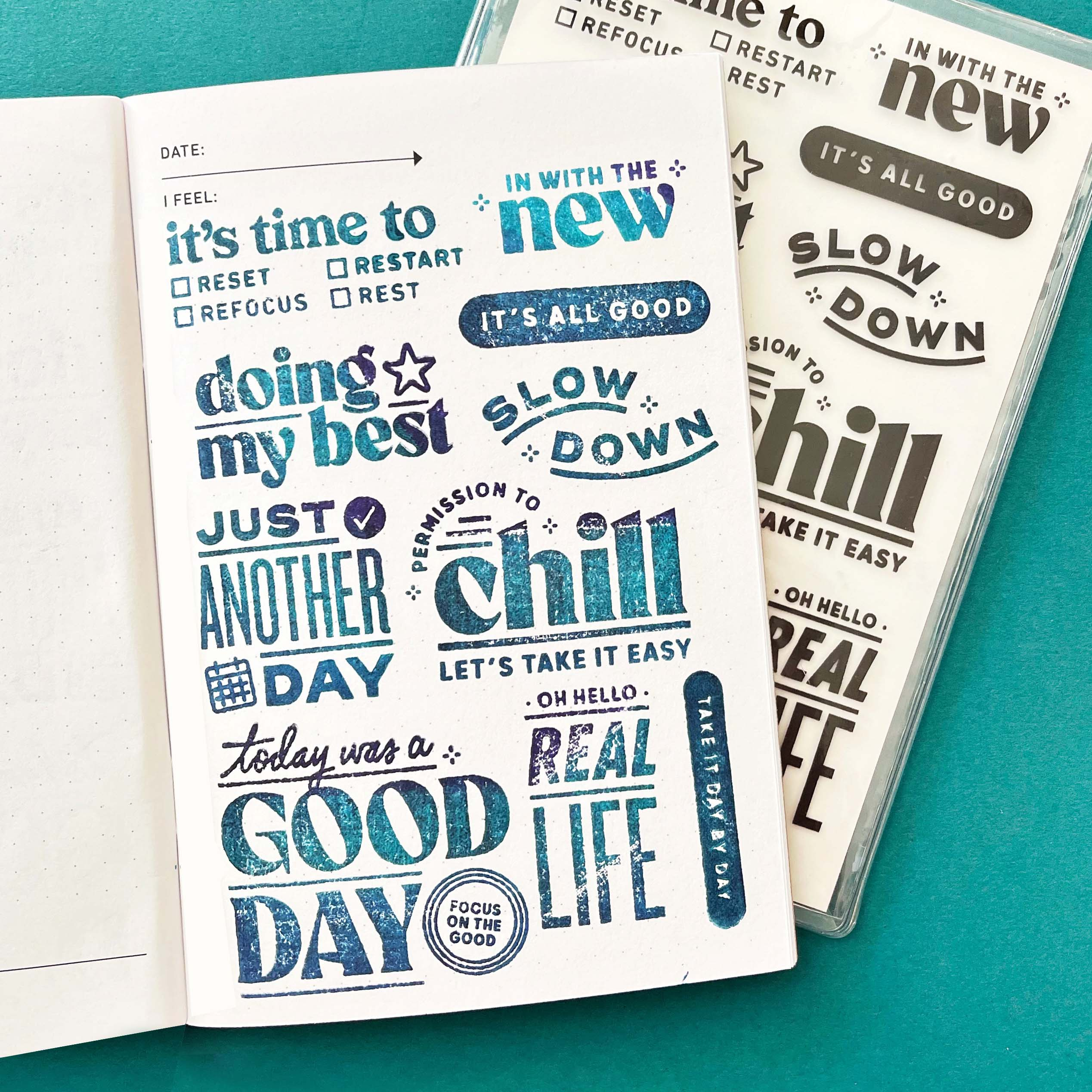Reset and Restart - 4x6 Clear Stamp Set