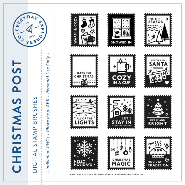 Christmas Post - Digital Stamp Set