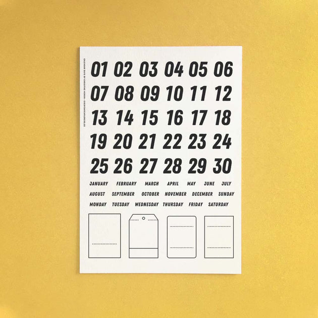 Calendar Days - 6x8 Clear Stamp Set