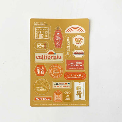 California - 4x6 Sticker Sheet