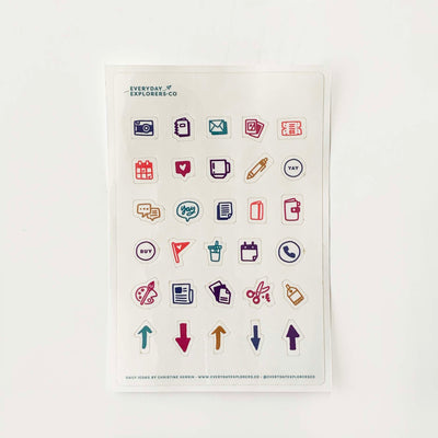 Daily Icons (Clear) - 4x6 Sticker Sheet