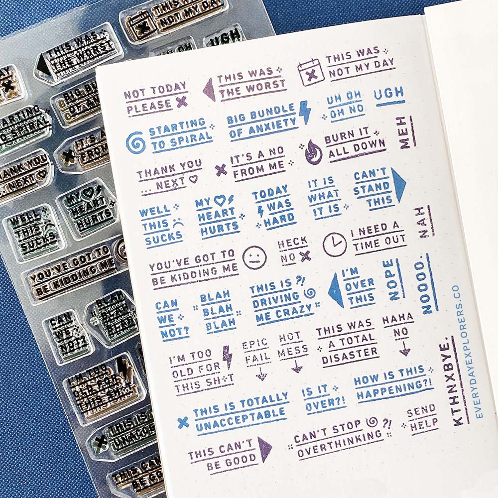 Epic Fail Prompts - 4x6 Clear Stamp Set