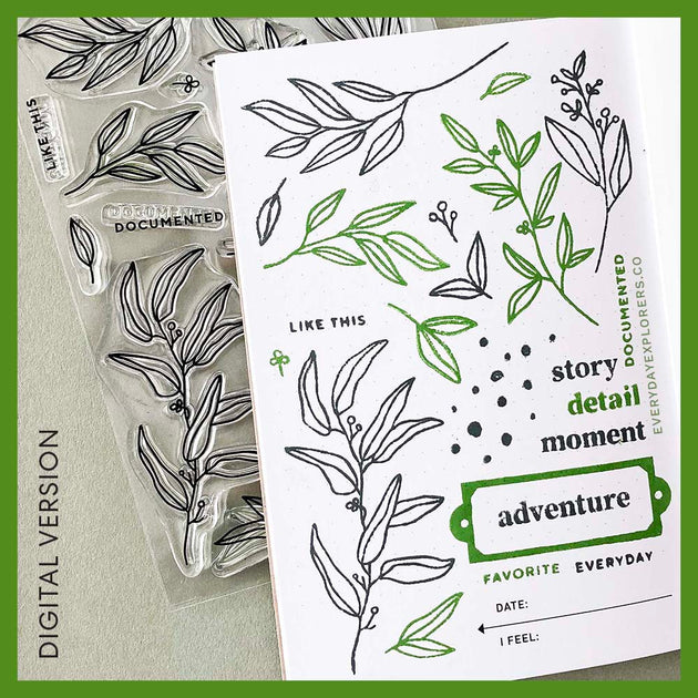 Everyday Greenery by Lifestory Market - Digital Stamp Set
